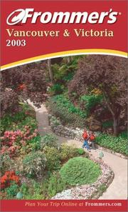 Cover of: Frommer's Vancouver & Victoria 2003