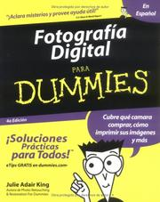 Cover of: Fotografia Digital Para Dummies