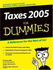 Cover of: Taxes 2005 for dummies