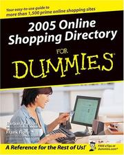 Cover of: 2005 Online Shopping Directory For Dummies