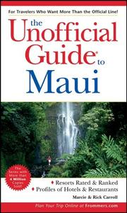 Cover of: The Unofficial Guide to Maui (Unofficial Guides)