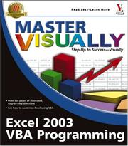 Cover of: Master Visually Excel 2003 VBA Programming