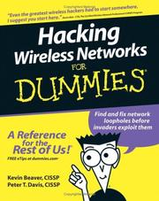 Cover of: Hacking Wireless Networks For Dummies (For Dummies (Computer/Tech))