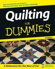 Cover of: Quilting For Dummies (For Dummies (Sports & Hobbies))
