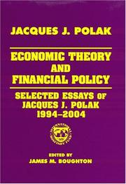 Cover of: Economic Theory And Financial Policy