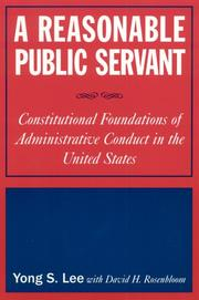 Cover of: A Reasonable Public Servant