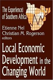 Cover of: Local economic development in the developing world
