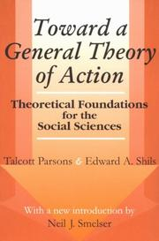 Cover of: Toward a General Theory of Action