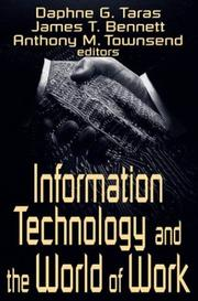 Cover of: Information Technology and the World of Work
