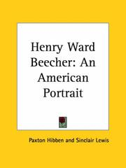 Cover of: Henry Ward Beecher: An American Portrait
