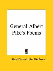 Cover of: General Albert Pike's Poems