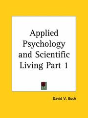 Cover of: Applied Psychology and Scientific Living, Part 1