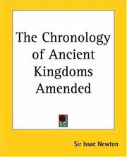 Cover of: Chronology of ancient kingdoms amended
