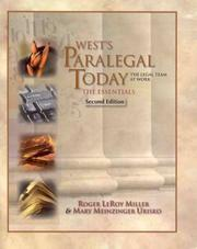 Cover of: West's Paralegal Today