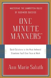 Cover of: One Minute Manners