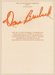 Cover of: The Genius of Dave Brubeck, Book 1: Piano Solos