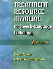 Cover of: Treatment Resource Manual for Speech-Language Pathology