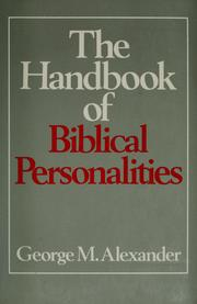 Cover of: The Handbook of Biblical Personalities
