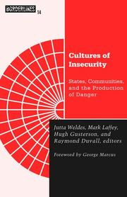 Cover of: Cultures of Insecurity