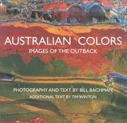 Cover of: Australian Colors