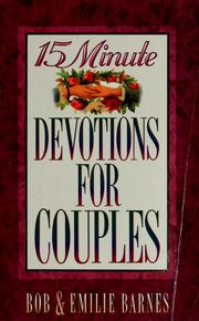 Cover of: 15 minute devotions for couples