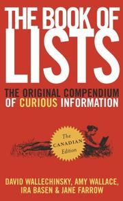 Cover of: The Book of Lists