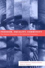 Cover of: Freedom, Equality, Community