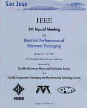 Cover of: Electrical Performance of Electronic Packaging: October 27-29, 1997