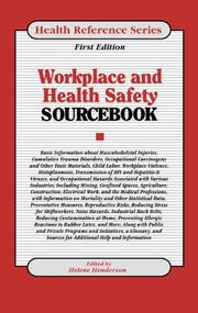 Cover of: Workplace health and safety sourcebook