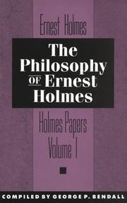 Cover of: The Philosophy of Ernest Holmes