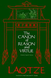 Cover of: The canon of reason and virtue