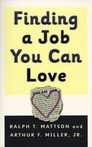 Cover of: Finding a Job You Can Love