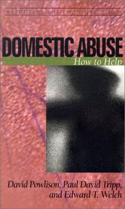 Cover of: Domestic Abuse: How to Help (Resources for Changing Lives)