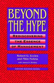 Cover of: Beyond the Hype