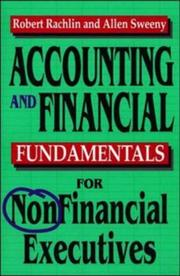 Cover of: Accounting and financial fundamentals for nonfinancial executives