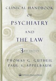 Cover of: Clinical HAndbook of Psychiatry and the Law