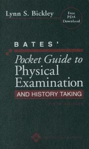 Cover of: Bates' Pocket Guide to Physical Examination and History Taking (Professional Guide Series)