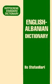 Cover of: English Albanian Dictionary (Hippocrene Standard Dictionaries)