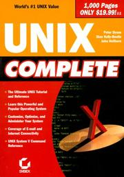 Cover of: UNIX Complete