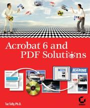 Cover of: Acrobat 6 and PDF Solutions