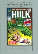 Cover of: Marvel Masterworks Incredible Hulk 3