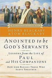 Cover of: Anointed to Be God's Servants