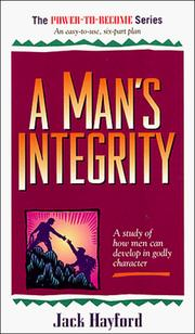 Cover of: Man's Integrity (Power to Become)