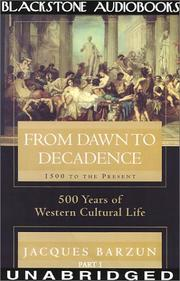Cover of: From Dawn to Decadence, Part 1