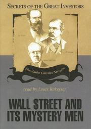 Cover of: Wall Street and Its Mystery Men (Secrets of the Great Investors)