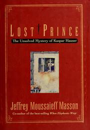 Cover of: Lost prince: the unsolved mystery of Kaspar Hauser