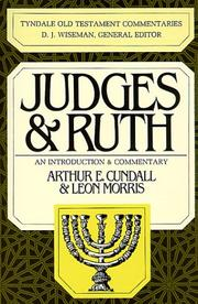 Cover of: Judges & Ruth (The Tyndale Old Testament Commentary Series)