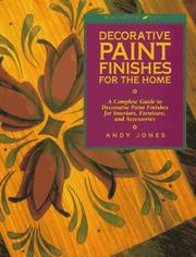 Cover of: Decorative paint finishes for the home