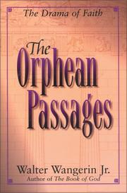 Cover of: The Orphean passages