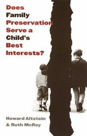 Cover of: Does Family Preservation Serve a Child's Best Interests? (Controversies in Public Policy)